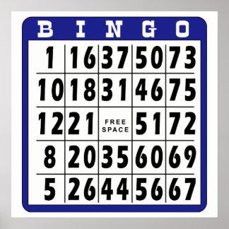 Bingo Card 4 Poster