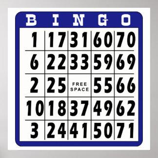 Bingo Card 9 Poster
