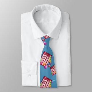 Bingo Card Any Color Background Necktie