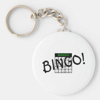 Bingo Card Basic Round Button Key Ring