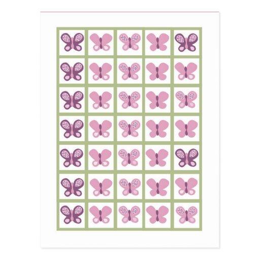 Bingo Card Markers Sugar Plum Butterfly Post Card