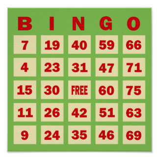 Bingo Card Poster