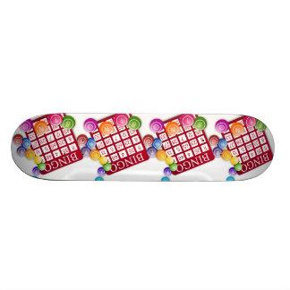 BINGO Card with BINGO Balls Skate Board Deck