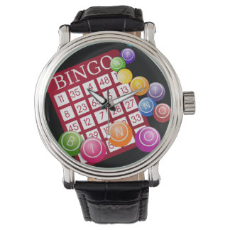 BINGO Card with BINGO Balls Watches