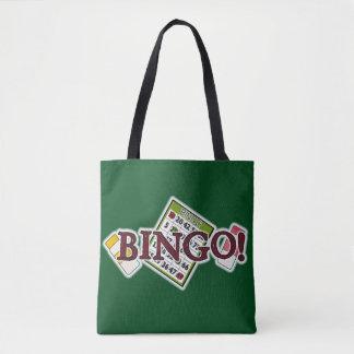 Bingo card word art tote bag