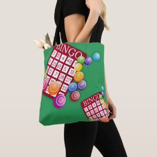 Bingo Cards And Markers Print Tote Bag