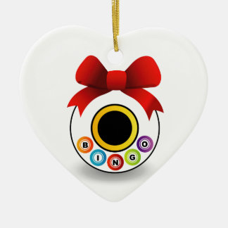 Bingo Ceramic Ornament