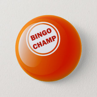 BINGO CHAMP BINGO BALL 6 CM ROUND BADGE