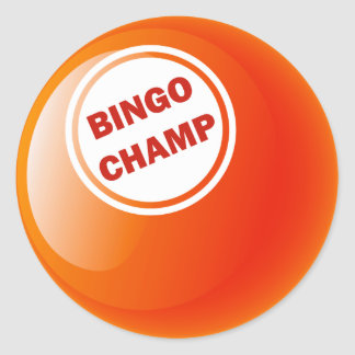 BINGO CHAMP BINGO BALL CLASSIC ROUND STICKER