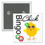 Bingo Chick 15 Cm Square Badge
