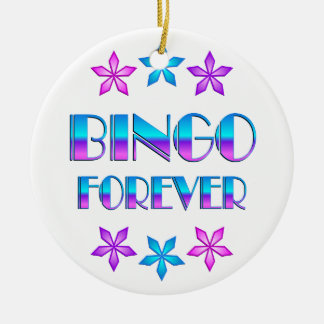 Bingo Forever Ceramic Ornament