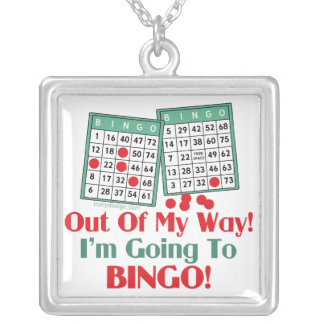 Bingo Funny Saying Silver Plated Necklace