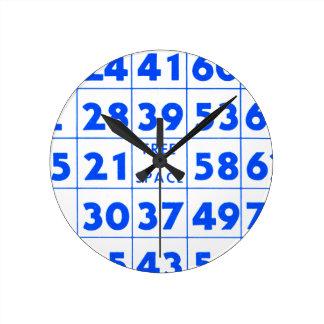 Bingo Game Card Retro Vintage Kitsch Wall Clock