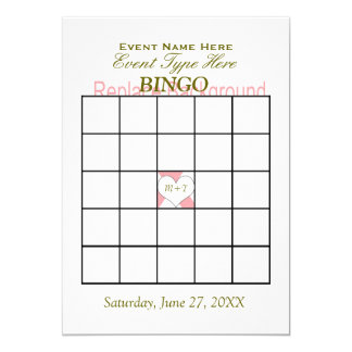 Bingo Game Template 13 Cm X 18 Cm Invitation Card