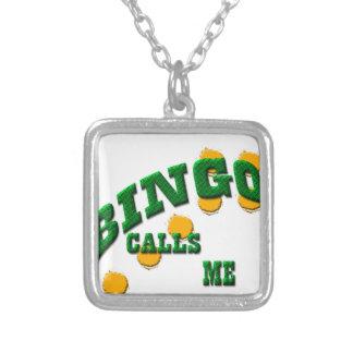 Bingo games silver plated necklace