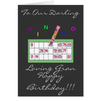 BINGO GRAN HAPPY BIRTHDAY CARD