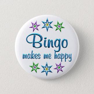 Bingo Happy 6 Cm Round Badge