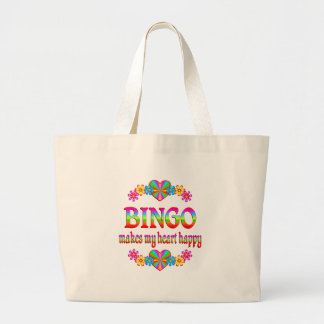 BINGO Heart Happy Large Tote Bag