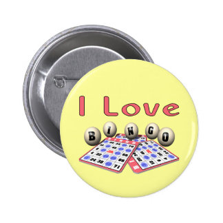 Bingo: I Love Bingo 6 Cm Round Badge