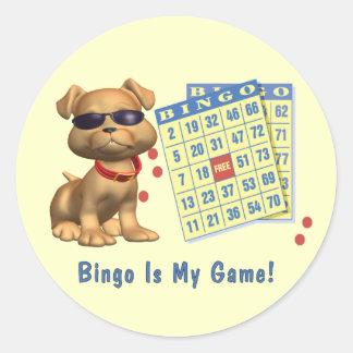Bingo Is My Game! Classic Round Sticker