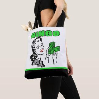 Bingo Lady With Money Tote Bag