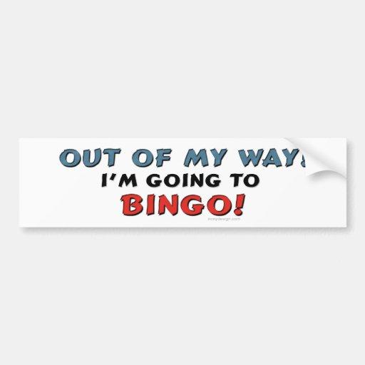 Bingo Lovers Bumper Stickers