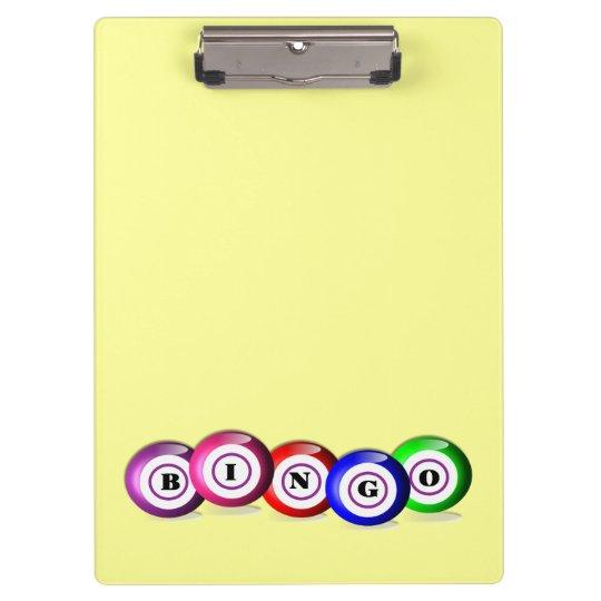 Bingo Lovers Personalised Lucky Bingo Board Clipboard