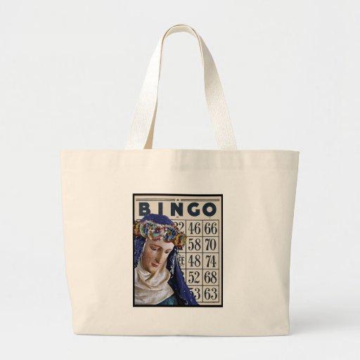 BINGO Madonna, altered art original Tote Bags