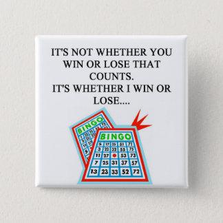 bingo player gifts 15 cm square badge