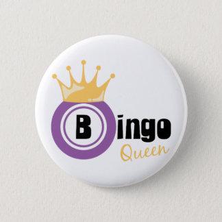 Bingo Queen 6 Cm Round Badge
