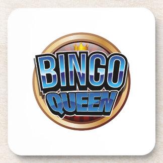 Bingo Queen Bingo Player Gift Funny Coaster