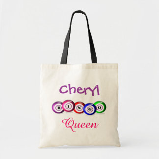 Bingo Queen Fun Bingo Balls Design Budget Tote Bag