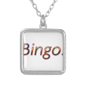 Bingo! Silver Plated Necklace
