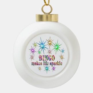 Bingo Sparkles Ceramic Ball Decoration