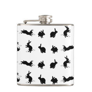 Binky Bunnies Hip Flask (choose colour)
