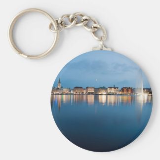 Binnenalster at Hamburg Basic Round Button Key Ring