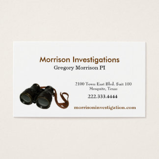 Binoculars Private Investigator Business Card