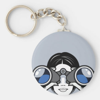 Binoculars Vector Key Ring