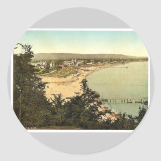 Binz, from Utkik, Isle of Rugen, Germany rare Phot Classic Round Sticker
