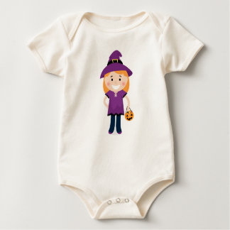 Bio baby girl body with Little witch Baby Bodysuit
