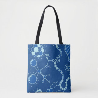 Bio/Chemistry Spectrum Blue Atom Two-sided design Tote Bag