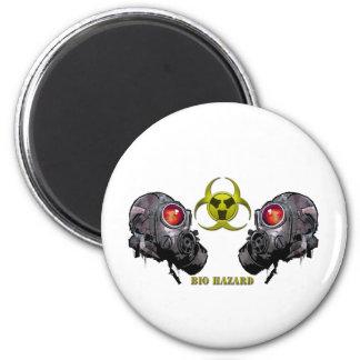 Bio hazard 6 cm round magnet