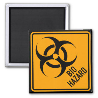 Bio Hazard Biohazard Yellow Diamond Warning Sign Magnet