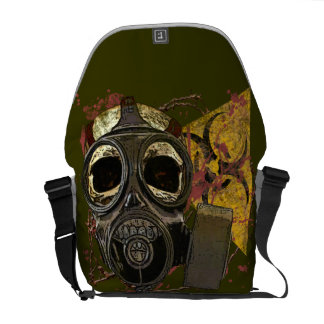 Bio-hazard Gas Mask Skull Messenger Bag