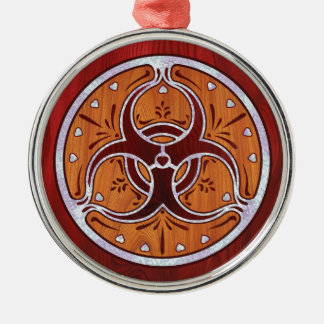Bio Hazard Inlay II Metal Ornament