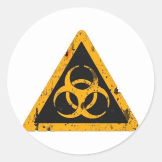 Bio Hazard Round Sticker