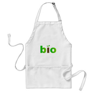Bio text symbol of eco friendly concept adult apron
