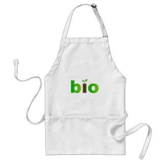 Bio text symbol of eco friendly concept standard apron