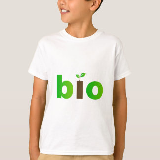Bio text symbol of eco friendly concept tee shirts
