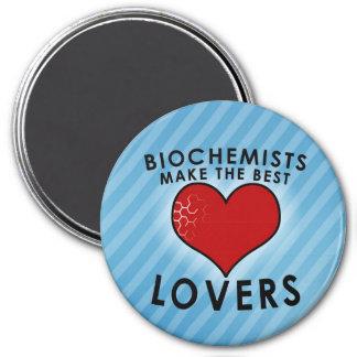Biochemists make the best lovers 7.5 cm round magnet